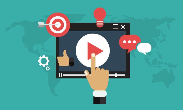 Illustration d'une plateforme vidéo interactive.