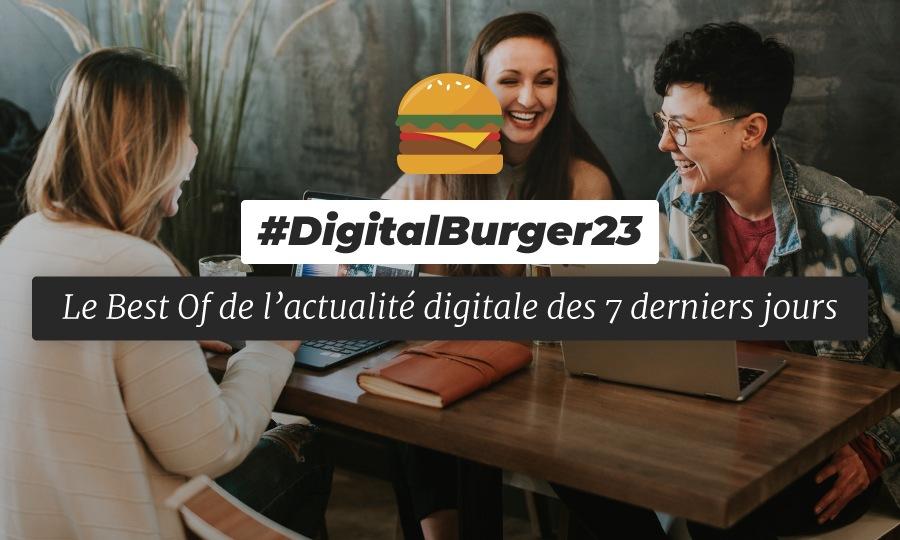 Le visuel du Digital Burger numéro 23 de Sysentive.