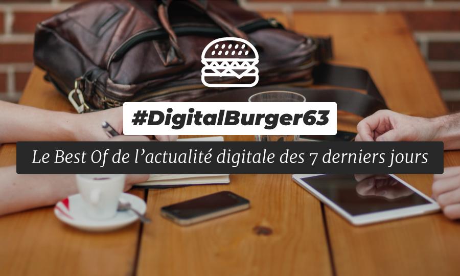 Le visuel du Digital Burger numéro 63 de Sysentive.